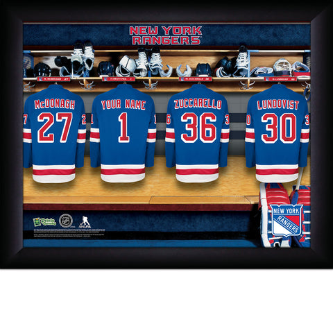 NHL New York Rangers Locker Room Sign with Personalization