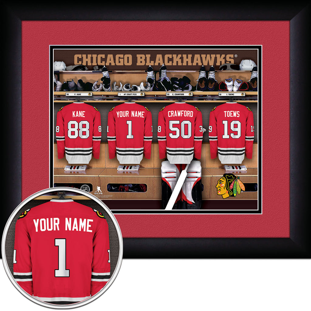 NHL Chicago Blackhawks Locker Room Sign with Personalization