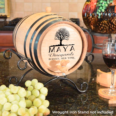 Maya Vineyards Personalized Oak Barrel
