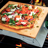 Pizza Stone Grill with Stainless Steel Rack and Thermometer