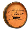 Personalized Whiskey Label 1 Engraved Quarter Barrel Top Sign - Personalized Gifts for Men - GUYVILLE