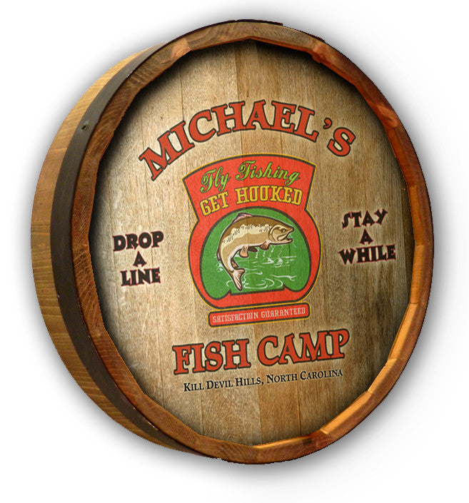 Personalized Fish Camp Color Quarter Barrel