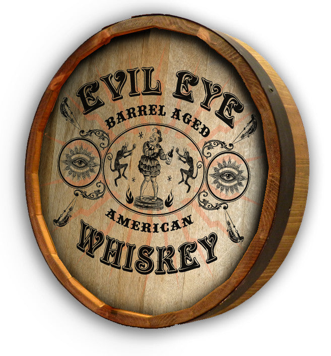 Personalized Evil Eye Color Quarter Barrel Top Sign - Personalized Gifts for Men - GUYVILLE