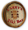 Personalized Tiki Bar Color Quarter Barrel