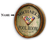 Personalized Pool Room Color Quarter Barrel