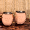 Set of 2 Personalized Moscow Mule Copper Mugs with Unique Handles - Personalized Gifts for Men - GUYVILLE