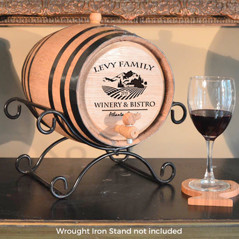Vineyard Bistro Design Oak Barrel