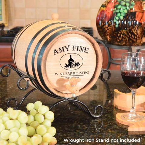 Wine Bistro Design Personalized Oak Barrel