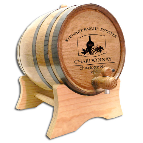 Wine Vase Design Personalized Oak Barrel