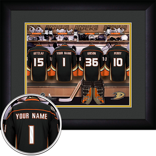 NHL Anaheim Ducks Locker Room Sign with Personalization