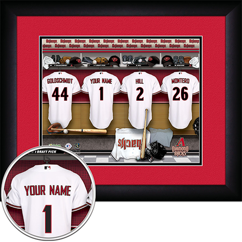 Personalized Arizona Diamondbacks MLB Locker Room Sign
