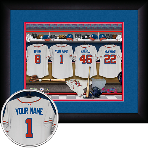 Personalized Atlanta Braves MLB  Locker Room Sign
