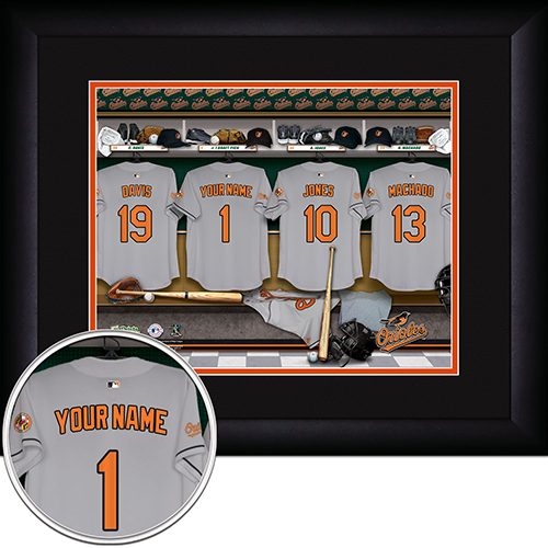 Personalized Baltimore Orioles MLB  Locker Room Sign - Personalized Gifts for Men - GUYVILLE