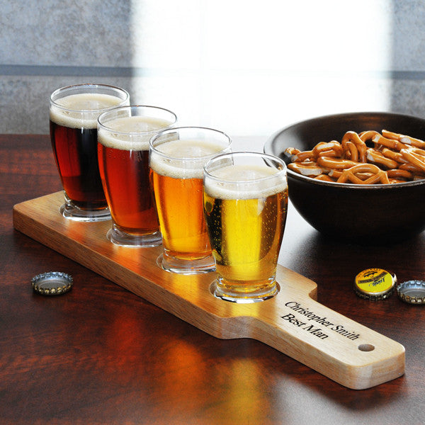 Beer Flight Sampler - Personalized - Personalized Gifts for Men - GUYVILLE