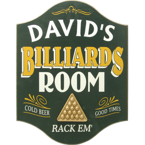 Billiards Room Sign - Personalized