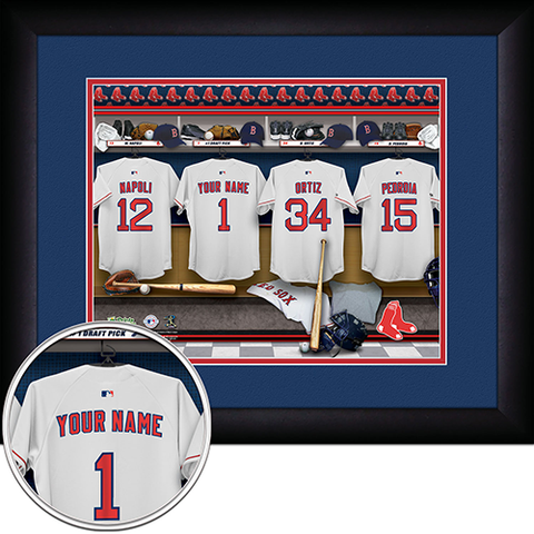 Personalized Boston Red Sox MLB  Locker Room Sign