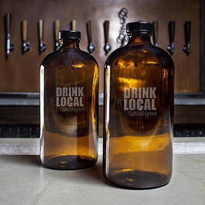 Personalized Drink Local 16 oz. Bullet Growlettes - Personalized Gifts for Men - GUYVILLE
