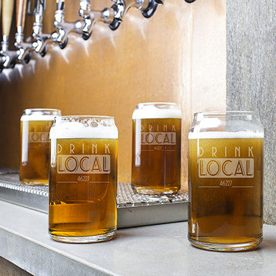 Personalized Drink Local Craft Beer Can Glasses
