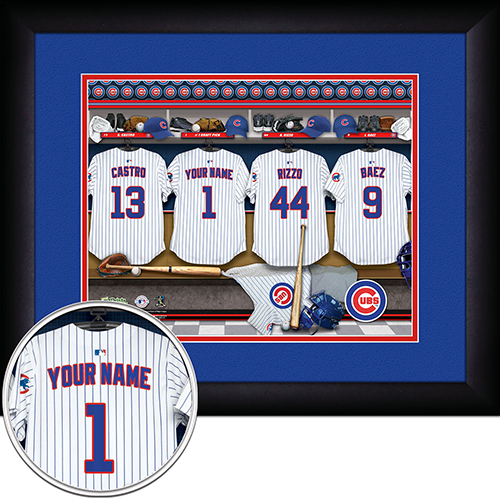 Personalized Chicago Cubs MLB  Locker Room Sign - Personalized Gifts for Men - GUYVILLE
