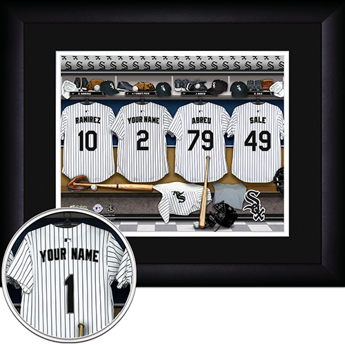 Personalized Chicago White Sox MLB  Locker Room Sign - Personalized Gifts for Men - GUYVILLE