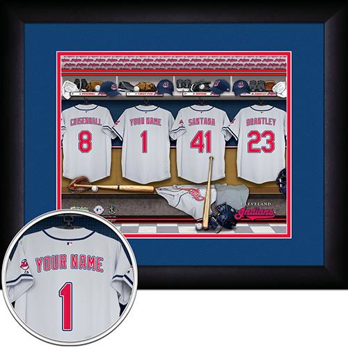 Personalized Cleveland Indians MLB  Locker Room Sign - Personalized Gifts for Men - GUYVILLE