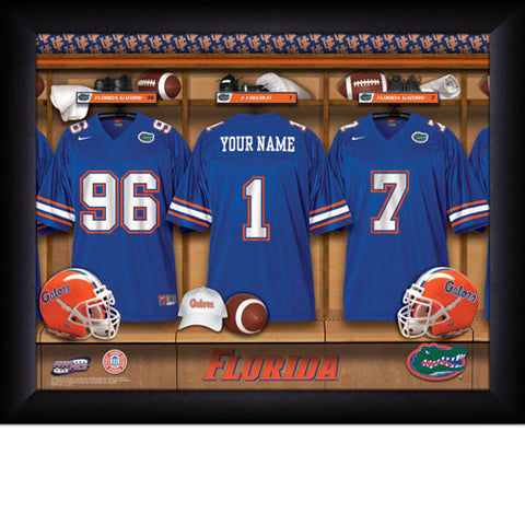 College Football Locker Room Sign with Personalization- Florida Gators