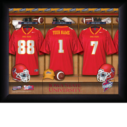 College Football Locker Room Sign with Personalization - Iowa State Cyclones