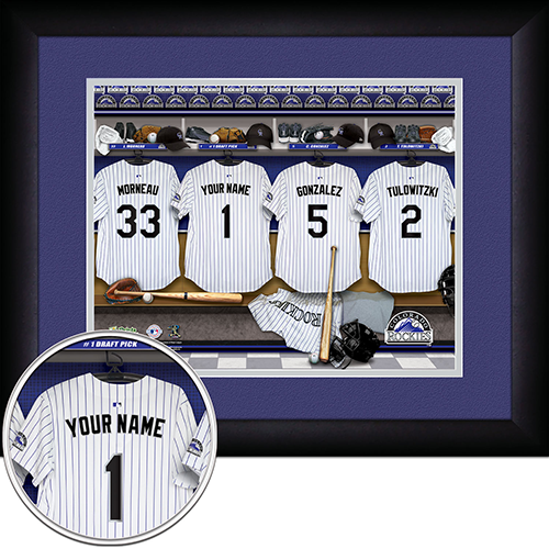 Personalized Colorado Rockies MLB Locker Room Sign - Personalized Gifts for Men - GUYVILLE