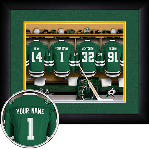 NHL Dallas Stars Locker Room Sign with Personalization