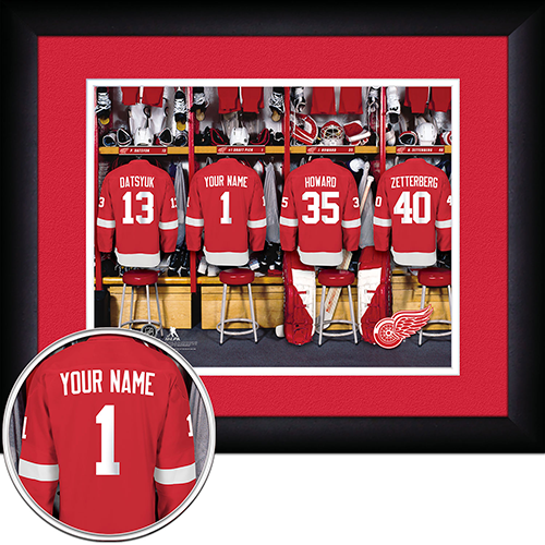 NHL Detroit Red Wings Locker Room Sign with Personalization - Personalized Gifts for Men - GUYVILLE