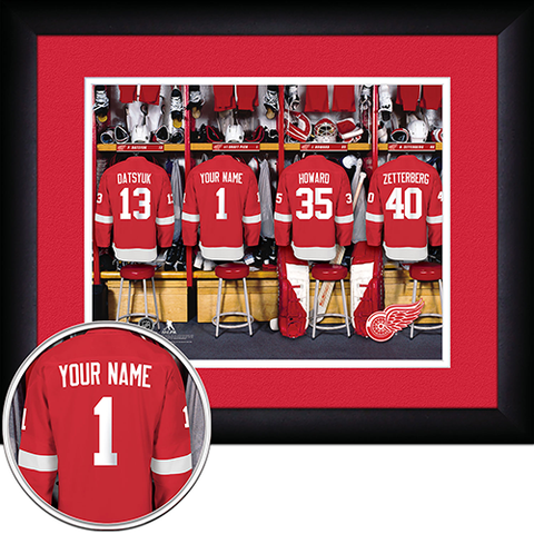 NHL Detroit Red Wings Locker Room Sign with Personalization