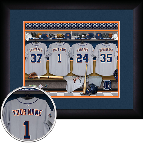 Personalized Detroit Tigers MLB Locker Room Sign - Personalized Gifts for Men - GUYVILLE