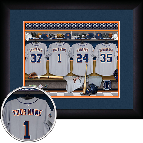 Personalized Detroit Tigers MLB Locker Room Sign