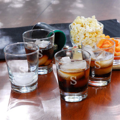 Engraved Double Old Fashioned Glasses (Set of 4)