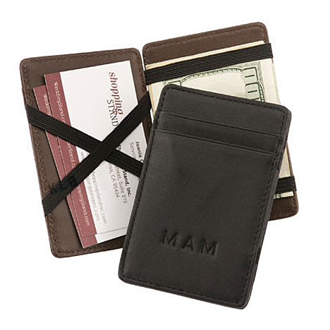 Genuine Leather Magic Wallet with Personalization