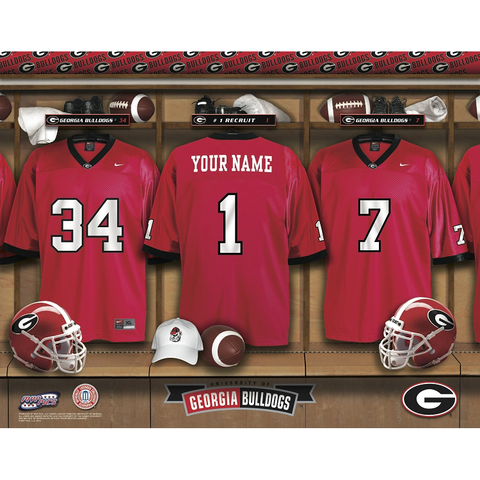 Personalized Georgia Bulldogs Football Locker Room Signs