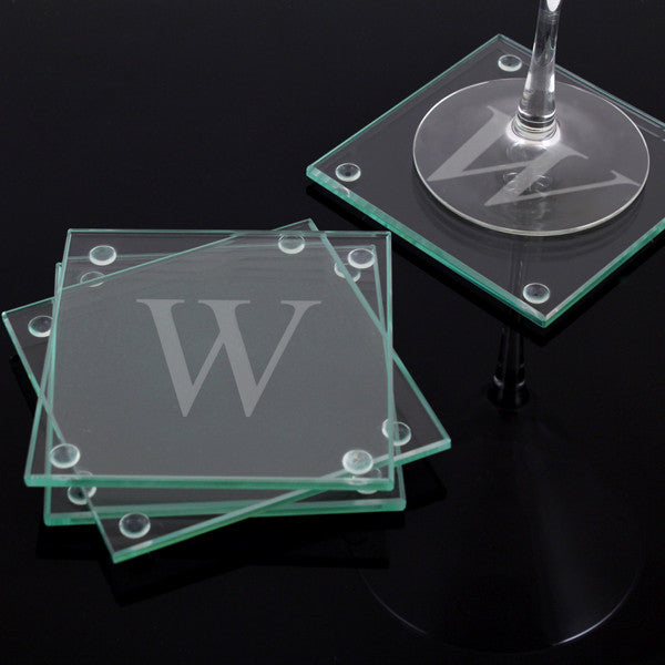 Glass Coasters with Personalization (Set of 4) - Personalized Gifts for Men - GUYVILLE