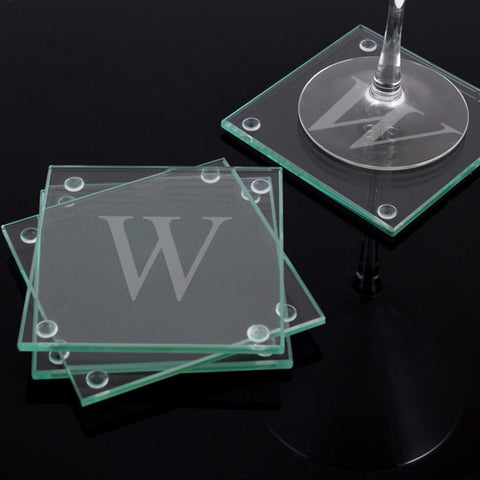 Glass Coasters with Personalization (Set of 4)