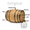 The Original Bluegrass Barrels Mini Whiskey Barrel w/ Black Hoops - Personalized Gifts for Men - GUYVILLE