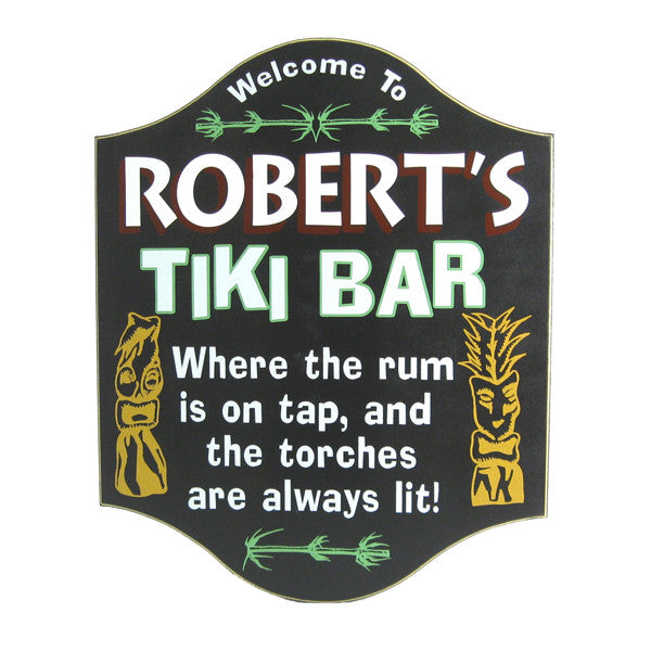 Handcrafted Tiki Bar Sign - Personalized Gifts for Men - GUYVILLE