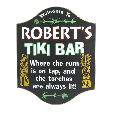 Handcrafted Tiki Bar Sign