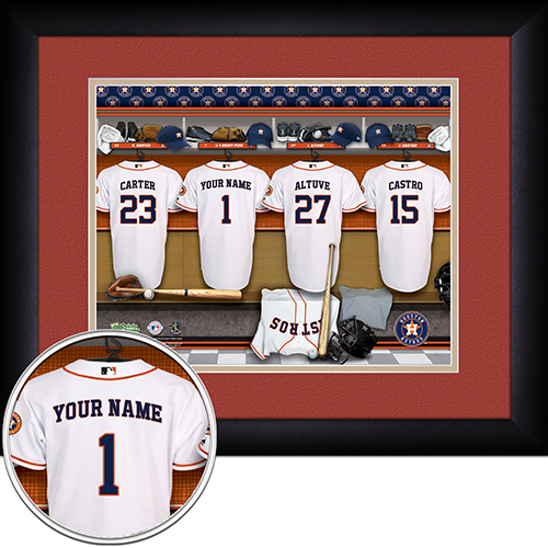 Personalized Houston Astros MLB Locker Room Sign - Personalized Gifts for Men - GUYVILLE
