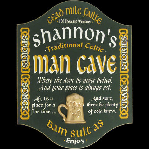 Irish Man Cave Personalized Sign