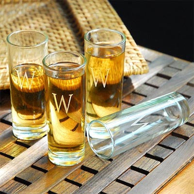 Island Shooter Glasses - Personalized (Set of 4)