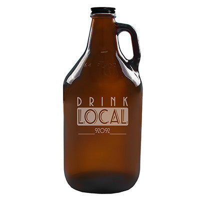 Personalized Drink Local Craft Beer Amber Growler
