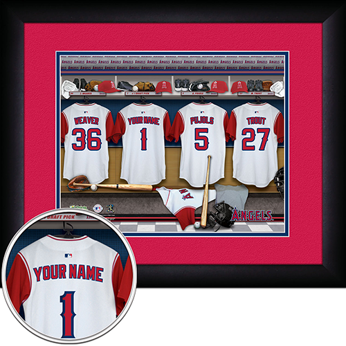 Personalized Los Angeles Angels MLB  Locker Room Sign