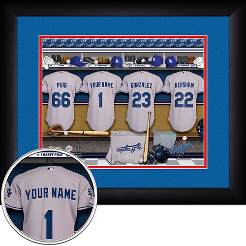 Personalized Los Angeles Dodgers MLB  Locker Room Sign - Personalized Gifts for Men - GUYVILLE