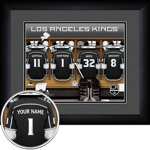 NHL Los Angeles Kings Locker Room Sign with Personalization - Personalized Gifts for Men - GUYVILLE