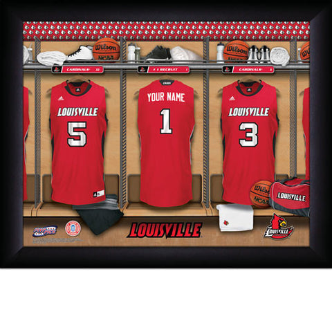 Louisville Personalized College Basketball Locker Room Sign