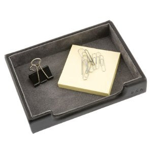 Personalized Leather Desk Accessory Tray
